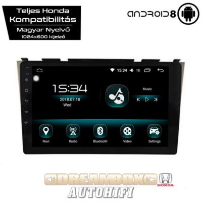 Garanciális Honda CRV AutóHifi, Gyári Kinézetű Autórádió (HONDA CRV 2007-től) Márka Specifikus Multimédia (Magyar Nyelvű, 4 GB RAM) Android 8 GPS Navigáció