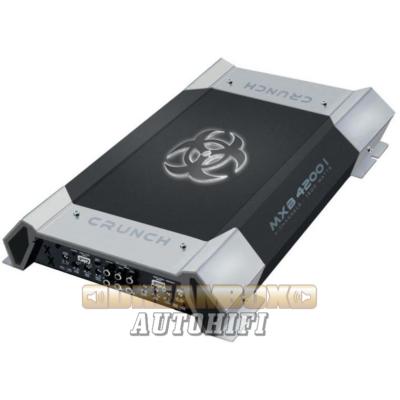 CRUNCH MXB-4200I, 4 csatornás (4X250W,2X400W) 1600W. Max erősítő