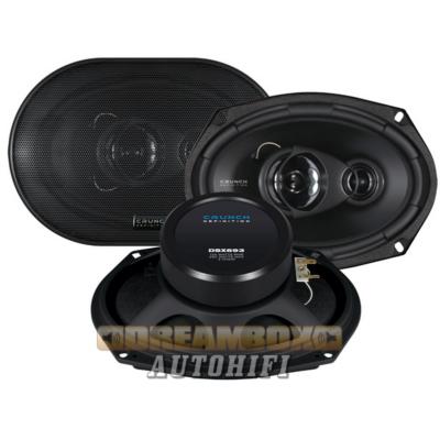 CRUNCH DSX693, nagy ovál 3 utas (125/250W) hangszóró pár