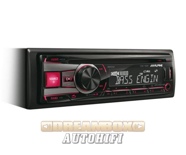 ALPINE CDE-190R CD USB autórádió