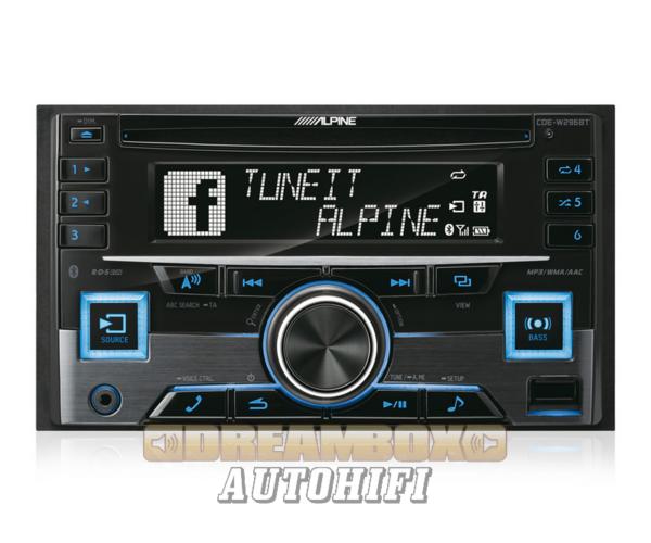 ALPINE CDE-W296BT autórádió