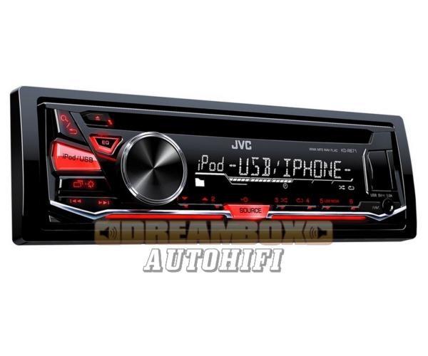 JVC KD-R671 MP3/CD rádió USB-vel és iPod/iPhone támogatással