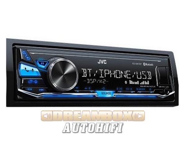 JVC KD-X341BT Mechanika nélküli autórádió, Bluetooth funkcióval, kék megvilágítással