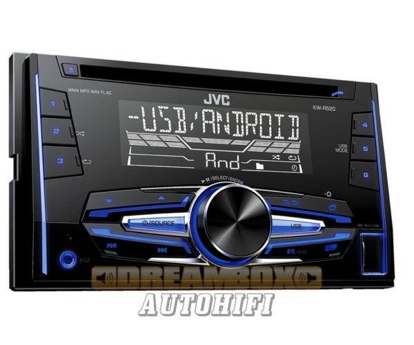 JVC KW-R520 MP3/CD rádió USB-vel 2 DIN méretben