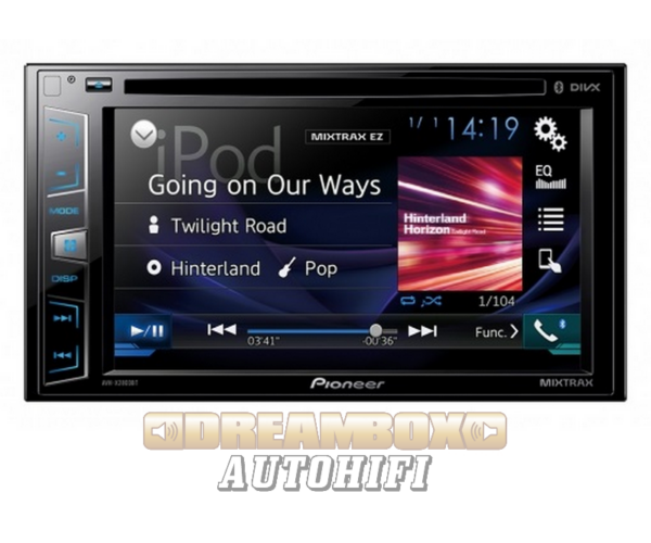 PIONEER AVH-X2800BT DSP Processzoros multimédia Bluetooth kihangosítóval