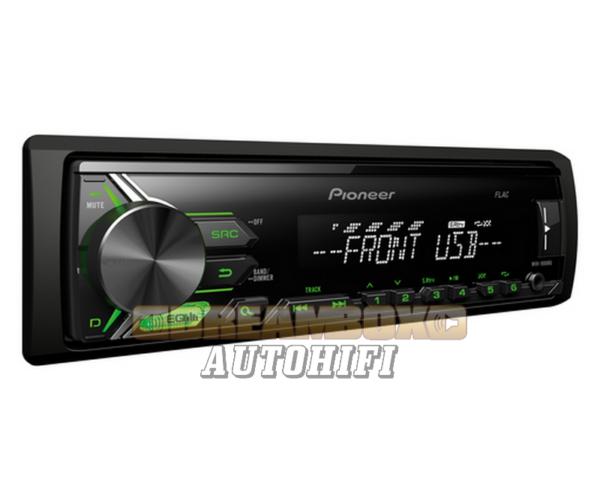 Pioneer MVH-190UBG Autórádió (USB/AUX csatlakozó, FLAC lejátszás)
