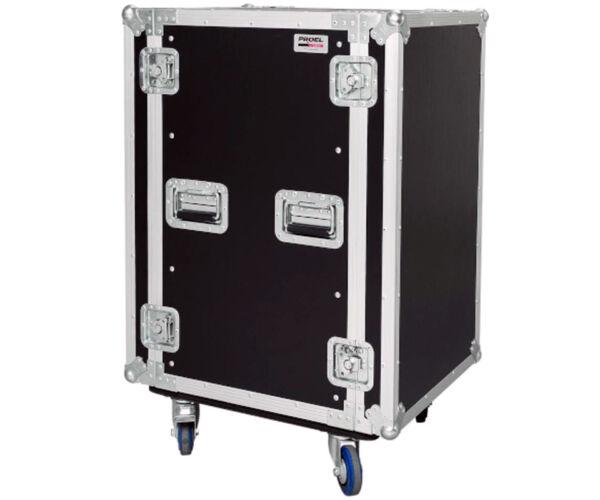 CR218BLKMW Rack doboz, 18U, kerekekkel