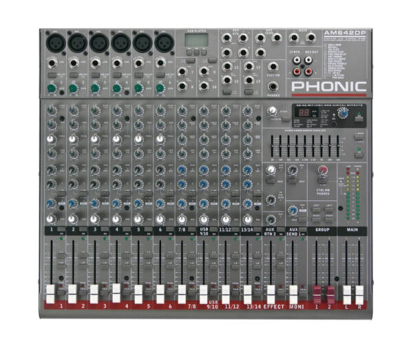 AM642DP 6 mono/4 stereo csatorna/2 sub/effekt/USB lejátszó