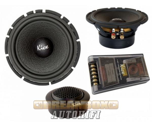 Kicx PRO 62N 16,5 cm-es HI-END komponens autóhifi szett 180W max.