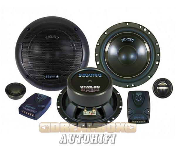 CRUNCH GTX-6.2C, 16,5 cm-es 2 utas (125/250W) autó hangszóró szett