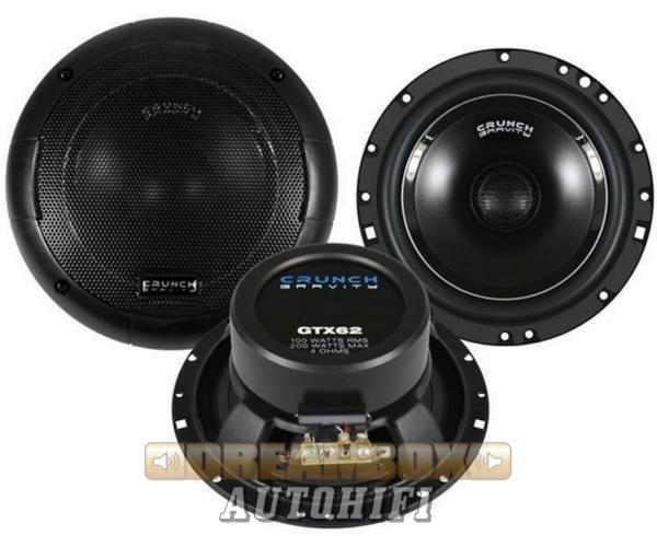 CRUNCH GTX-62, 16,5 cm-es 2 utas (100/200W) hangszóró