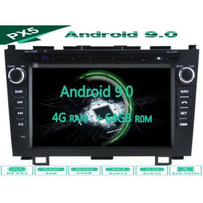 Garanciális Honda CRV AutóHifi, Gyári Kinézetű Autórádió (HONDA CRV 2006-11) Márka Specifikus Multimédia (Magyar Nyelvű, 4 GB RAM) Android 8 GPS Navigáció