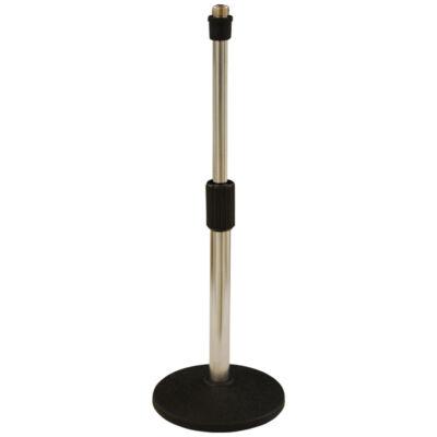 LK-935W Egyenes mikrofonállvány, kőrtalpas, alacsony
