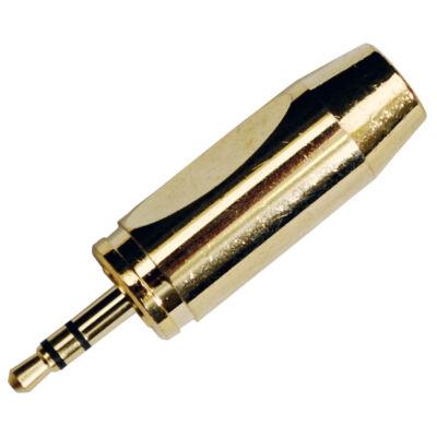 JACK-119 Sztereó 3.5 Jack dugó (aranyozott)