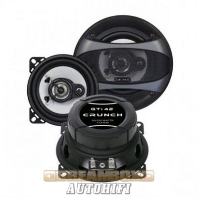 CRUNCH GTI-42, 10 cm-es 3 utas (50/100W) koax hangszóró pár