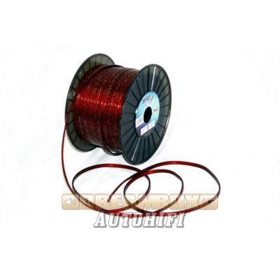 Impact hangszóró kábel, 1,5 mm2, oxigén mentes, bordó köpenyben, + jelölé